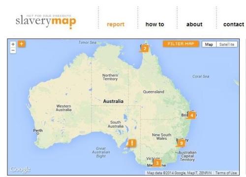 slavery map