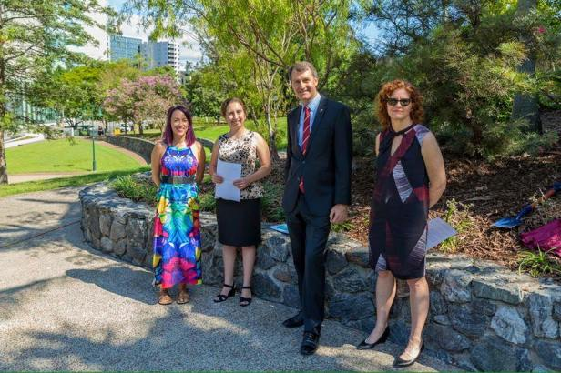 Lord Mayor Graham Quirk opens Brisbane domestic violence memorial