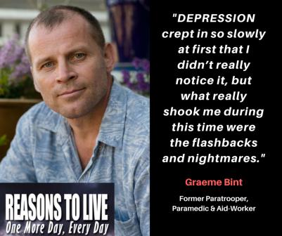 Graeme Bint, former Paramedic, Aid Worker & Paratrooper