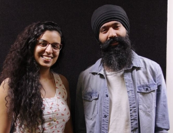 Sukhjit Khalsa and L-Fresh The Lion